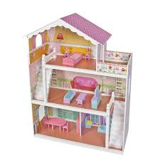 wooden barbie doll house furniture. Photo 4 Of 9 Large Children\u0027s Wooden Dollhouse Fits Barbie Doll House Pink With Furniture - Walmart.com ( D