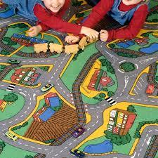 kids collection roads carpet sesame street play rug city road play rug city street play rug