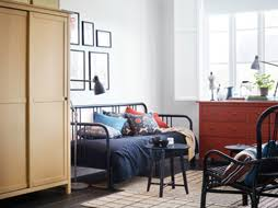 ikea bed furniture. a small bedroom furnished with daybed for two in black metal shown ikea bed furniture