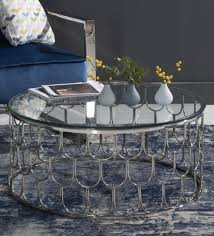 belmont coffee table in chrome finish