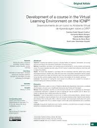 Development of a course in the Virtual Learning Environment on the ICNP®