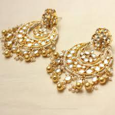 Chandbali Design Imitation Kundan Chandbali Design South India Jewels