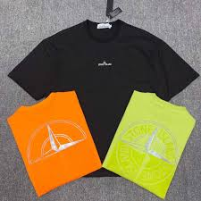 Designer Brand With Compass Logo 2019 Stones Brand Mens Short Sleeve T Shirt Classic Big Compass Print T Shirt Top Summer Breathable Designer Shirt High Quality Fashion T Shirt From