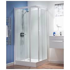 kinedo kineprime glass 700 x 700mm corner slider shower cubicle