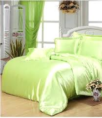 seafoam green quilt set yellow satin silk bedding super king size queen full duvet cover fitted