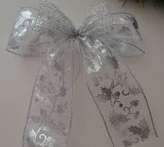 Schleifenparadies Dekoschleife Weihnacht Advent Silber