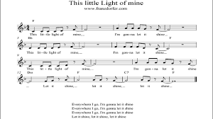 This Little Light Of Mine Sheet Music Free Download This Little Light Of Mine Instrumental