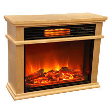 lifesmart easy large room infrared fireplace includes deluxe mantle in burnished