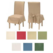 clic cotton duck dining chair slipcovers set of 2