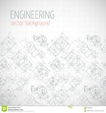 Poster Cover Banner Background With Technical Drawing Of Parts