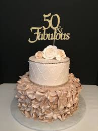 Any Number Gold Glitter 50th Birthday Cake Topper 50 And Fabulous