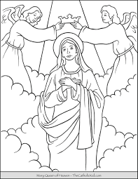 Submitted 21 days ago by tunmunda. Mary Queen Of Heaven Coloring Page Thecatholickid Com