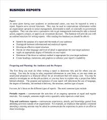 Free Sample Business Report Template Business Report Examples Free