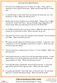 Christmas Word Problems Worksheets for all | Download and Share ...