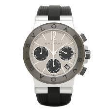 brand shop axes rakuten global market bvlgari watches mens bvlgari watches mens dg37c6scvdch bvlgari diagono rubber chronograph watches watch silver black