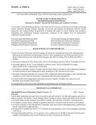 Resume Example Sample Resume For School Administrator Resume
