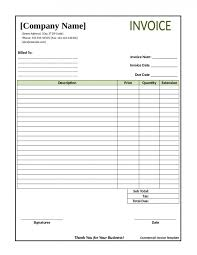 Invoice Template Free Word Excel Pdf Construction Blank 04 Saneme