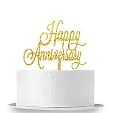 Amazoncom Innoru Happy Anniversary Cake Topper Birthday