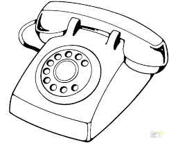 Cell Phone Coloring Page Phone Coloring Pages Phone Coloring Page