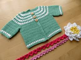 Free Crochet Baby Sweater Patterns Fascinating Cluster Yoke Baby Cardigan Make My Day Creative