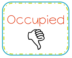 occupied bathroom sign. Signs To Hang On Bathroom Door That Indicate Students If Is Occupied Or Vacant Sign Pinterest