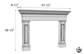 Fireplace mantel plans Ideas Diy Faux Fireplace Mantel Surround Plans Dimensions Rogue Engineer Faux Fireplace Mantel Surround Rogue Engineer