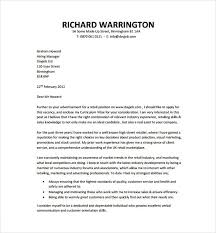 Cover Letter For Cv Pdf Resume Cover Letter Template 9 Free Word