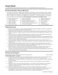Scada Engineer Resume Sample Electrical Design Engineer Sample Resume 60 Engineering Objectives 2