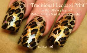 Easy Traditional Leopard Print Nails | Animal DIVA Nail Art ...