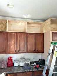 Shelves Above Kitchen Cabinets Building Cabinets Up To The Ceiling From Thrifty Decor Chick