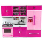 kenmore kitchen playset. my happy kitchen stove sink refrigerator battery operated toy doll playset w/ lights, kenmore w