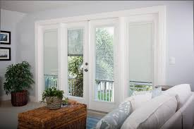 12 Photos Gallery of: Metal French Doors with Attractive Curtains