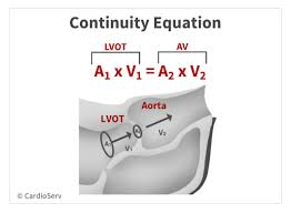 conservation of mass continuity equation aortic stenosis