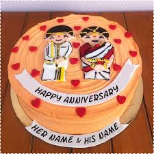Write Name On Marriage Anniversary Cake With Photo