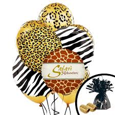 Leopard Print Party Decorations Safari Animal Adventure Party Balloon Bouquet Birthdayexpresscom
