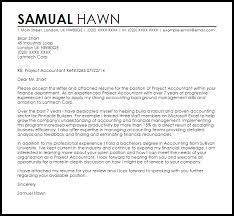 Project Accountant Cover Letter Sample Cover Letter
