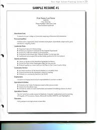 Resume Writing Worksheet For High School Students