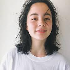 2019年夏伸ばしかけもかわいくセミロングの人気髪型ヘアスタイル37