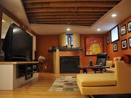 Basement Ideas  Finish Basement Ceiling Ideas Cool With - Finished basement ceiling ideas