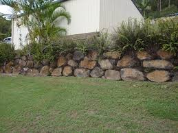 we source local basalt boulderachine select each piece to put together a beautiful rustic style boulder retaining wall
