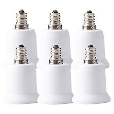 jackyled 6 pack e12 to e26 e27 adapter chandelier light socket e12 to medium socket e26 e27 converter bulb base adapter converter
