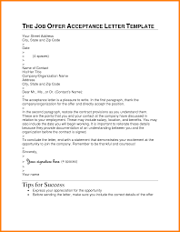 acceptance of job offer letter 5 accepting a job offer template formal buisness letter