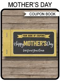 Mothers Day Coupon Booklets Archives Simonemadeit Party