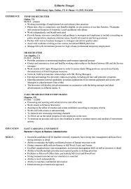 Hr Recruiter Resume Samples Velvet Jobs