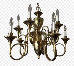 chandelier brass fox hunting horn cartoon chandelier