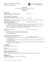 ... Special Education assistant Resume Template Awesome Sample Resume for  Ict Teacher Templates ...