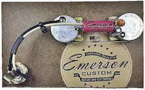 emerson custom p bass prewired kit wiring harness pots