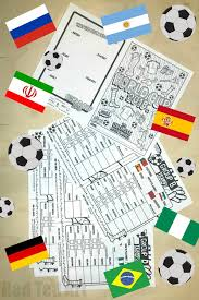 World Cup Planner Chart 2018 World Cup Match Planner Printable Red Ted Art