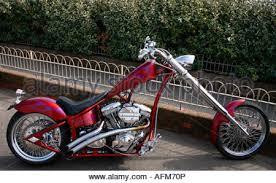 harley davidson custom chopper motorbike stock photo royalty free