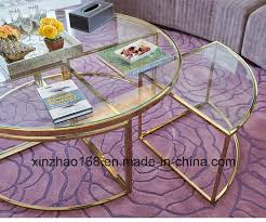 china round tempered glass coffee table with chrome leg china living room table home table